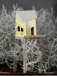 Ontwerpduo Cottage Town Olive 16x6cm