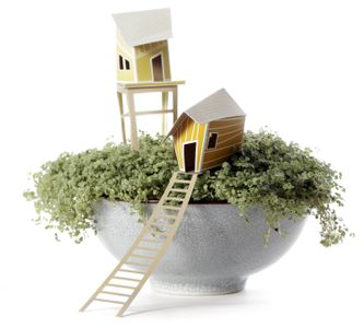 Ontwerpduo Cottage Town Olive 16x6cm (230-018-cot-oli)