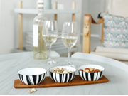 Cathrineholm Stripes Tapas-sett Teak, Sort (364-100354528)