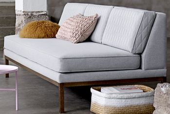 Bloomingville Settle Sofa, Grå polyester