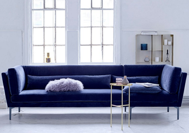 Bloomingville Rox Sofa, Blå velour (152-50145526)