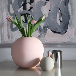 COOEE Ball Vase 20cm, Rosa