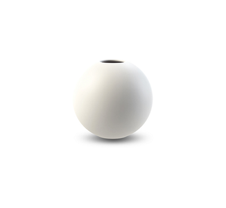 COOEE Ball Vase 8cm DEMOPRODUKT Hvit (389-ball-white-8cm_demo)