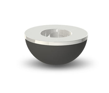 COOEE Telysholder/  skål 8cm sort-stål (389-lightbowl-black-8cm)