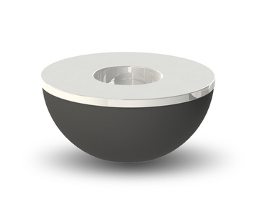 COOEE Telysholder/  skål 10cm sort-stål (389-lightbowl-black-10cm)