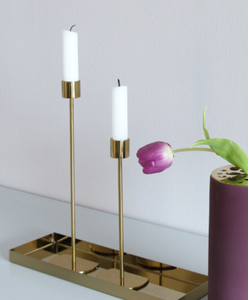COOEE Lysestake Messing - 29cm (389-candlestick-brass-29cm)