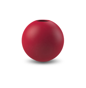 COOEE Ball Vase 10cm, Rød (389-ball-dusty-red-10cm)