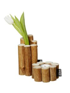 OOhh Kurundu Wood Vase/ Candle-holder (199-OKUV)