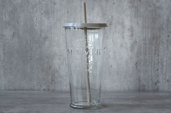 "Trend Design Glass m/ sugerør, ""Summer"""
