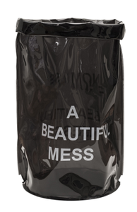 "Nomess Oppbevaringspose ""A beautiful mess""_Grå (410-12612)"