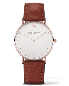 Paul Hewitt Klokke Sailor Brown, white-rose (414-PHSARStW1S)
