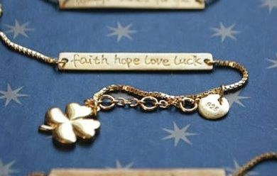 "by CRY ""Faith-Love-Hope"" Armbånd, forgylt sølv (394-BG1022)"