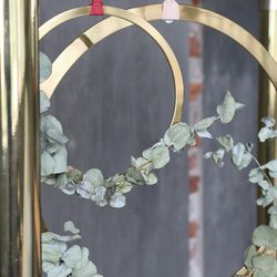COOEE Dekoroppheng Wreath Ø20cm, Messing
