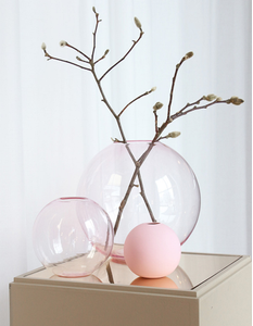 COOEE Ball Glass Vase 15cm_Rosa (389-ball-glass-pink-15cm)