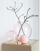 COOEE Ball Vase Glass 25cm_Rosa (389-ball-glass-pink-25cm)