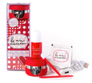 Le Mini Macaron Manicure Kit, Cherry Red