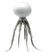 Octopus Candleholder Bronze Silver White
