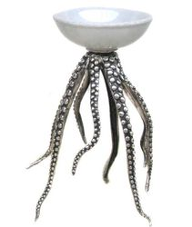 Octopus Bowl Bronze Silver White