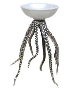 Octopus Bowl Bronze Silver White (426-ASD100-W)