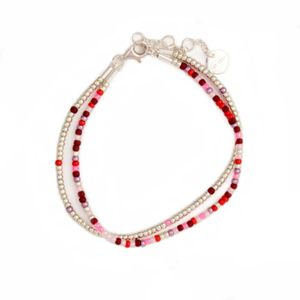 by CRY Armbånd SeedBeads - burgunder-red-rose (394-BS16H07)