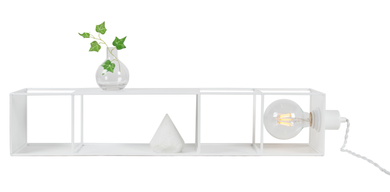 Globen Lighting Vegglampe Shelfie Lang, Hvit (205-233508)