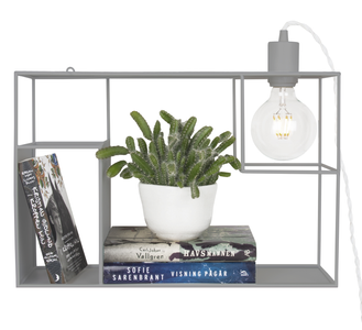 Globen Lighting Vegglampe Shelfie Grå, H30cm (205-233410)