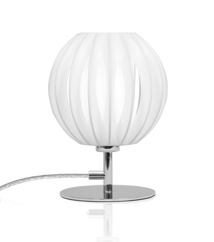 Globen Lighting Bordlampe Plastband Mini, Krom-Hvit