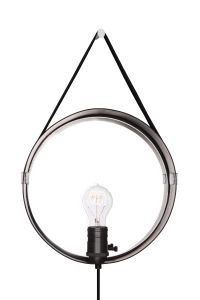Globen Lighting Vegglampe Hangover, Sort/Krom (205-230711)