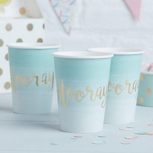 "Pick & Mix Pappkopper ""Hooray"" - Mint (332-PMIXCUPS5)"