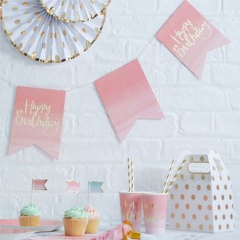 "Pick & Mix Banner ""Happy Birthday""_Rosa-Gull L1.5m (332-PMIXBUNT1)"