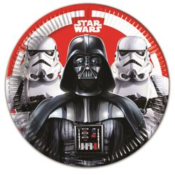 Star Wars Final Battle Papptallerkener, store (23cm) 8stk