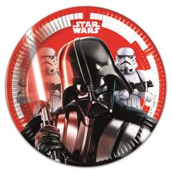 Star Wars Final Battle Papptallerkener, medium (20cm) 8stk