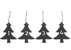 Ib Laursen Dekorasjon Juletre, tall 1-4