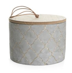 Home Collection Betongkrukke med trelokk, H13cm