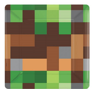Minecraft Party Papptallerker 8 stk (18cm) (332-TNTPPPLAT)