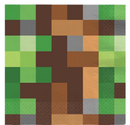 Minecraft Party Servietter 16stk - 33x33cm