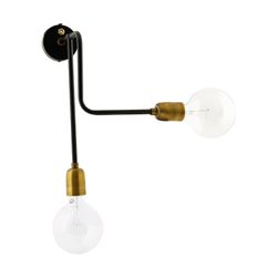 House Doctor Vegglampe Molecular, sort/ messing