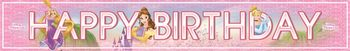 "Prinsesser Heart ""Happy Birthday""- banner (1stk)"