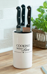 "Riviera Maison Knivholder ""Cooking with Love"""