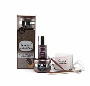 Le Mini Macaron Manicure Kit, Chocolate Gold (419-KIT010)