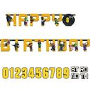 "LEGO® BATMAN MOVIE ""Happy Birthday""- banner (1stk)"
