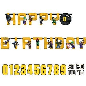 "LEGO® BATMAN MOVIE ""Happy Birthday""- banner (1stk) (332-BMLELETTT)"