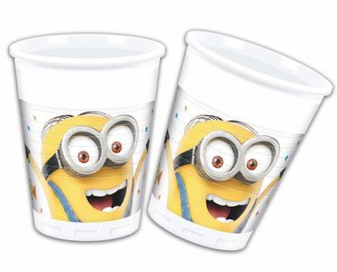 Minions Party Plastkopper,  200ml (8 stk) (126-88175)