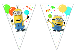 Minions Party Triangel flaggbanner, 1 stk