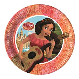 Elena Of Avalor Papptallerkner,  medium (20cm) 8stk (126-87794)