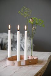 by Wirth Belt 4-Candles Lysestake, Natur