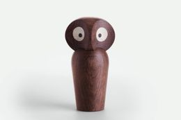 ArchitectMade Paul Anker Owl Smoked_H8.5cm