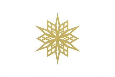 COOEE Skira1 Snowflake 4stk, Brass (389-skira1-6cm-brass)