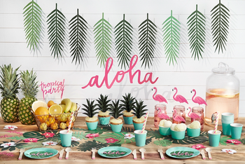 PartyDeco Aloha Banner Tropical Blader