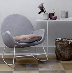 Bloomingville Liva Rocking Chair Grå